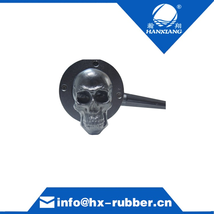 Retro Rubber Skull Door Handle Custom