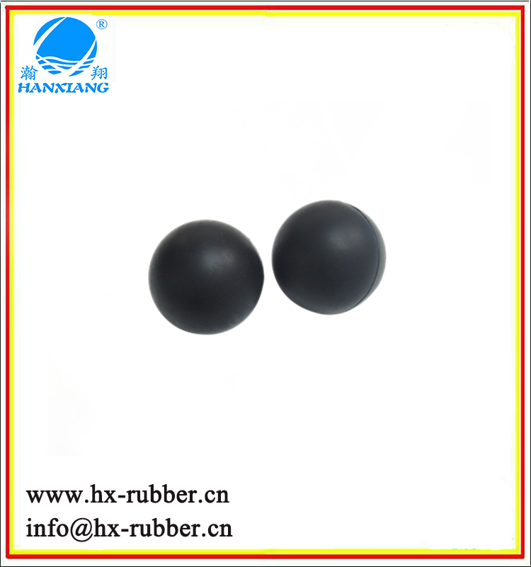 Black Rubber Ball Tear Resistance CR Ball In Dongguan