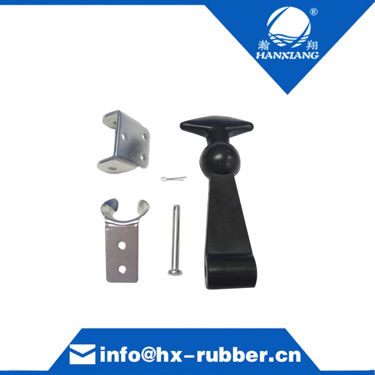 Rubber clamp with zinc plated bracket and clip